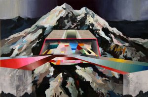 "disco peak, acrylic on panel, 16x24"" 2009"